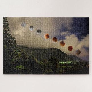 Blauer Mond-Mondfinsternis Hawaii 1014 Puzzle