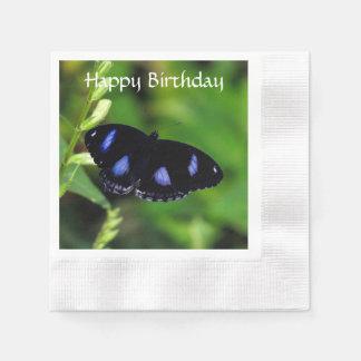 Blauer Mond-Schmetterling großes Eggfly Serviette
