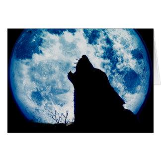Blauer Mond-Wolf-Anmerkungs-Karte Karte