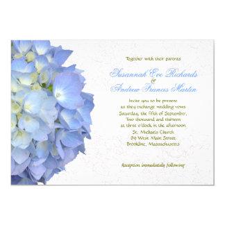 Blauer Mondhydrangea-kundenspezifische 12,7 X 17,8 Cm Einladungskarte