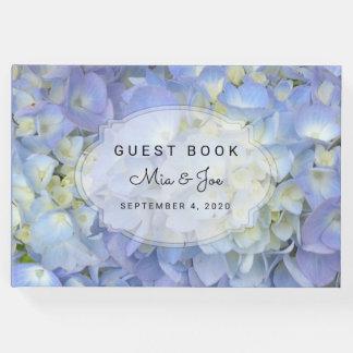 Blauer Mondhydrangea-kundenspezifisches Gäste Buch