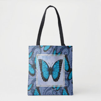Blauer Morpho Schmetterling Tasche
