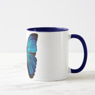 Blauer morpho Schmetterling Tasse