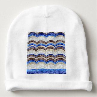 Blauer Mosaik-Baby-BaumwollBeanie Babymütze