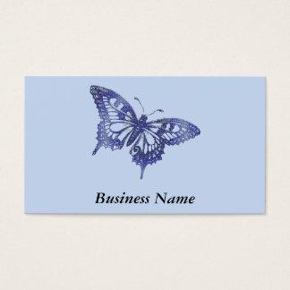 Blauer Mosaik-Buntglas-Schmetterling Visitenkarte