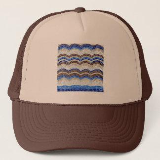 Blauer Mosaik-Fernlastfahrer-Hut Truckerkappe