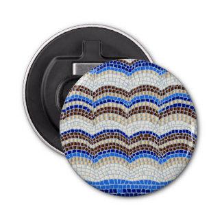 Blauer Mosaik-Flaschen-Öffner Runder Flaschenöffner