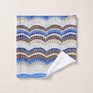 Blauer Mosaik-Wäsche-Stoff Waschlappen