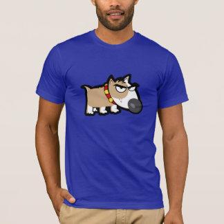 Blauer mürrischer Hund T-Shirt