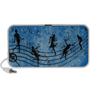 Blauer Musik-Pop-Kunst-Lautsprecher