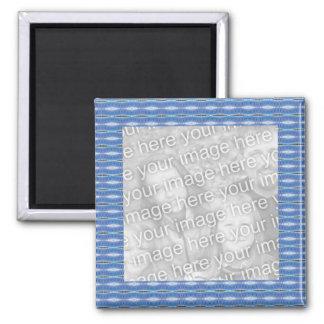 blauer Muster-Fotorahmen Quadratischer Magnet