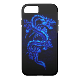 "BLAUER NEONdrache ""DRAGA "" iPhone 8/7 Hülle"