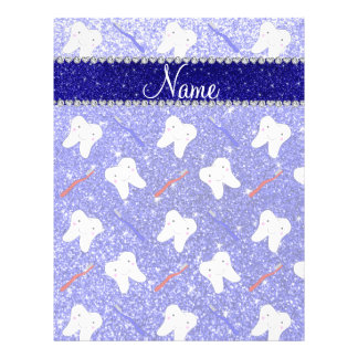 Blauer NeonGlitter des individuellen Namens putzt 21,6 X 27,9 Cm Flyer