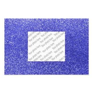 Blauer NeonGlitter Fotodruck