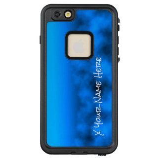 Blauer Neonnächtlicher Himmel mit schwarzem LifeProof FRÄ' iPhone 6/6s Plus Hülle