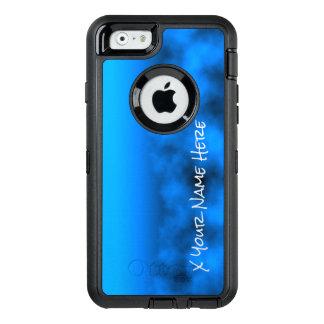 Blauer Neonnächtlicher Himmel mit schwarzem OtterBox iPhone 6/6s Hülle