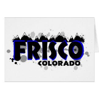 Blauer NeonSchmutz Frisco Colorado Karte