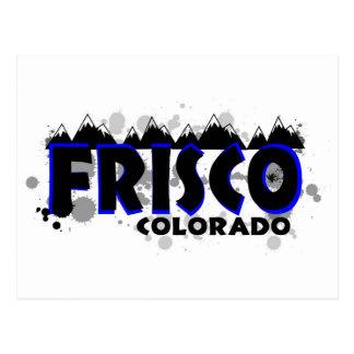 Blauer NeonSchmutz Frisco Colorado Postkarte
