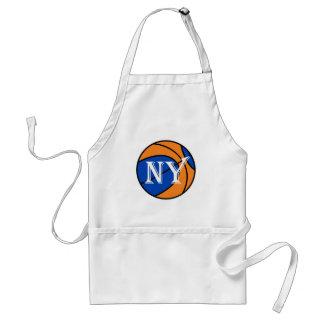 blauer orange Basketball New York Schürze