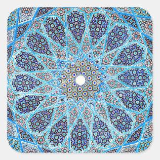 Blauer Orient Quadratischer Aufkleber