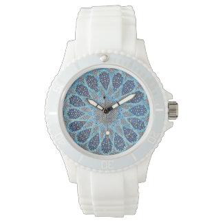 Blauer Orient Uhr