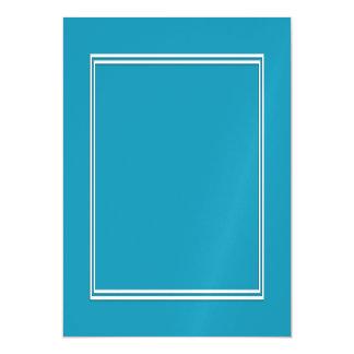Blauer Ozean BlueDouble weiße beschattete Grenze Magnetische Karte