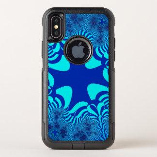 Blauer Ozean-Kreuz iPhone X Kasten OtterBox Commuter iPhone X Hülle