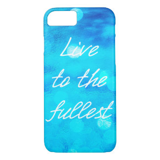 """Blauer Ozean """"leben zum vollsten"""" iPhone 7 Fall iPhone 8/7 Hülle"""