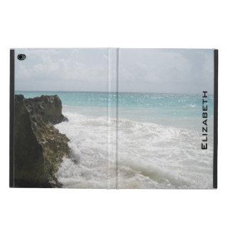 Blauer Ozean mit dem schäumenden Wellen-Meerblick