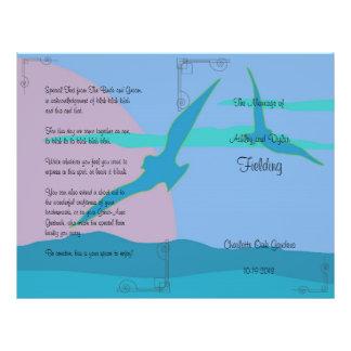 Blauer Ozean-tropisches 21,6 X 27,9 Cm Flyer