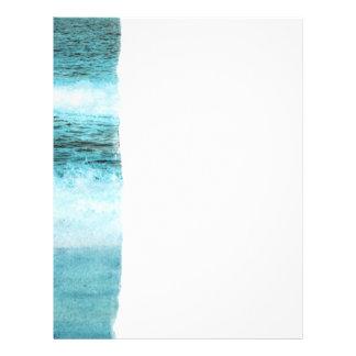 Blauer Ozean-Wellen-Strand 21,6 X 27,9 Cm Flyer