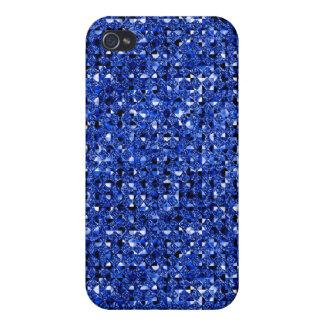 blauer Pailletteeffekt 4 Hülle Fürs iPhone 4