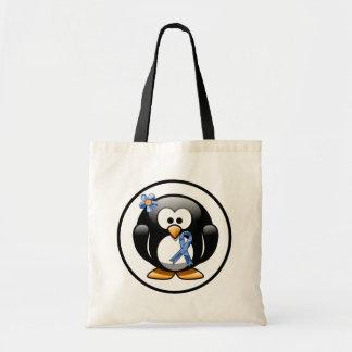 Blauer Paisley-Band-Pinguin Tragetasche
