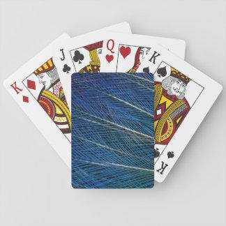 Blauer Paradiesvogel Federn Spielkarten