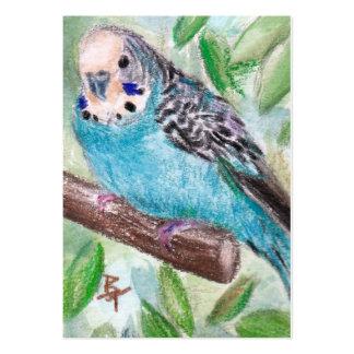 Blauer Parakeet ArtCard Mini-Visitenkarten