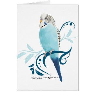Blauer Parakeet Karte