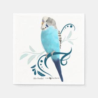 Blauer Parakeet Papierserviette