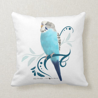 Blauer Parakeet Zierkissen