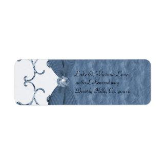 Blauer Pastell-u. Diamant-Wirbels-Bogen u.