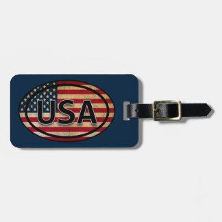 Blauer patriotischer Flaggen-Gepäckanhänger USA Gepäckanhänger