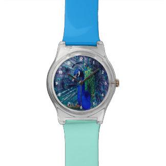 Blauer Pfau Uhr