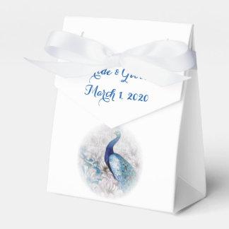 Blauer Pfau-Vintager Art-Gastgeschenk Geschenkkartons