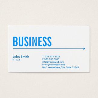 Blauer Pfeil-Pilot/Flieger-Visitenkarte Visitenkarte