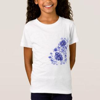 Blauer Pfingstrosen-T - Shirt 7