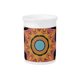 Blauer Pfirsich-künstlerische Mandala Krug