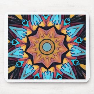 Blauer Pfirsich-künstlerische Mandala Mousepad