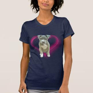 Blauer pitbull Welpen-T - Shirt