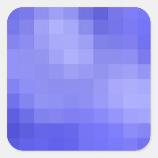 Blauer Pixel-Aufkleber Quadratischer Aufkleber