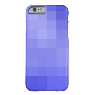Blauer Pixel-Kasten Barely There iPhone 6 Hülle
