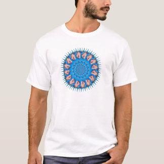 Blauer Plastik T-Shirt
